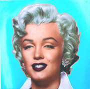 "Exciting Steve Kaufman Marilyn Monroe Pop ""Blue"""