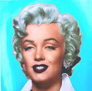 """Exciting Steve Kaufman Marilyn Monroe Pop """"Blue"""""""