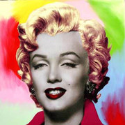 "Fab! Steve Kaufman Marilyn Monroe Pop ""Multi Color Background"""