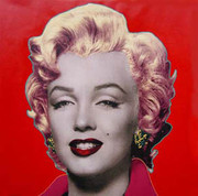 "A Fabulous Steve Kaufman Marilyn Monroe Pop ""Red"""