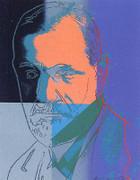 Dynamic Andy Warhol, Edition Prints Ten Portraits Of Jews Of The Twentieth Century - Sigmund Freud [Ii.235], 1980