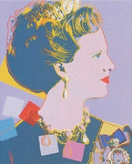 Beautiful Andy Warhol, Edition Prints Reigning Queens - Queen Margrethe Ii Of Denmark [Ii.342], 1985