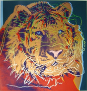 Beautiful Andy Warhol, Trial Proofs And Uniques Endangered Species: Siberian Tiger, 1983