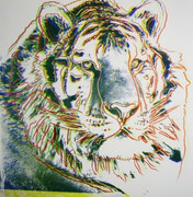 Fab! Andy Warhol, Trial Proofs And Uniques Endangered Species: Siberian Tiger, 1983