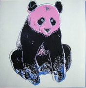 Splendid Andy Warhol, Trial Proofs And Uniques Endangered Species: Panda, 1983