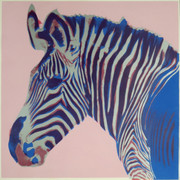 Fabulous Andy Warhol, Trial Proofs And Uniques Endangered Species: Zebra, 1983