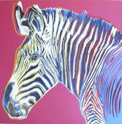 Rare Andy Warhol, Trial Proofs And Uniques Endangered Species: Zebra