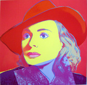Rare Andy Warhol, Trial Proofs And Uniques Ingrid Bergman With Hat, 1983