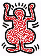 Fabulous Haring Edition Prints, Ludo #1, 1985