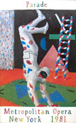 Exciting David Hockney Harlequin from Parade