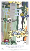 Dynamic Lichtenstein Water Lilies with Japanese Bridge