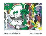 Rare Lichtenstein Landscape With Figures Lg