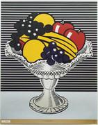 Beautiful Lichtenstein Still Life with Crystal Bowl