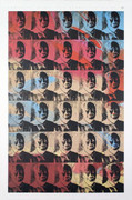 Rare Warhol Thirty Small Colored Maos (Reversal Series)