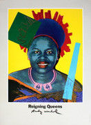 Splendid Warhol Queen Ntombi Twala Of Swaziland from Reigning Queens