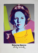 Splendid Warhol Queen Beatrix of the Netherlands, from Reigning Queens