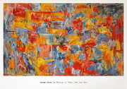 Rare  Jasper Johns Map