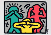 Keith Haring Hear No Evil, See No Evil, Speak No Evil