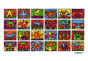 Keith Haring Colorful Retrospective Art  Print