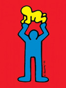 Keith Haring Two Figures Fine Art Print
