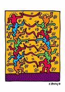Keith Haring People Stacked Art Print