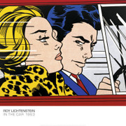 Roy Lichtenstein, In the Car Art Print