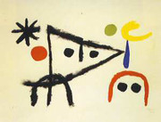 Joan Miro Le Petit Chat, 1951 Art Print