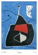 Joan Miro Dona, Ocell, Estel, 1978 Art Print