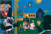 Romare Bearden School Bell Time ed. 950 Limited Edition Art Print