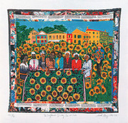 Faith Ringgold The Sunflower's Quilting Bee at Arles Signed serigraph ed. 425 Limited Edition Art Print