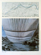 Christo Arkansas River from Above SIGNED