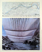 Christo Arkansas River Project from Below