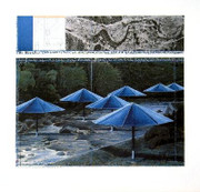 Christo The Blue Umbrellas, 1991