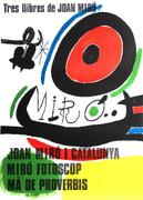 Miro Tres libres de Joan Miro Barcelona