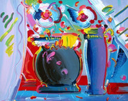 Stunning Flower Blossom II, Ltd Ed Silk-screen, Peter Max - Large!