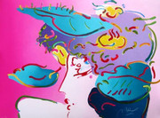 Beautiful Flower Spectrum, Ltd Ed Lithograph, Peter Max - Large!