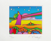 Peter Max Hand SIGNED with COA Dynamic Two Cosmic Sages Ver. I, Ltd Ed