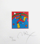 Splendid  Peter Max  Cosmic Jumper Detail III, Ltd Ed  HAND SIGNED w/ COA