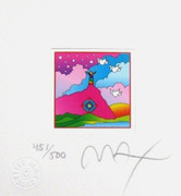 "Dynamic Peter Max Hand Signed w/COA Sage on Mountain Ltd Ed Litho.875"" x 4.5"""