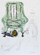 Fab! Breathing Pneumatic Armchair, Ltd Ed Mixed Media (Lithograph & Collage), Dali