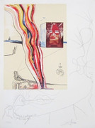 Exciting Liquid and GaseousTelevision, Ltd Ed Mixed Media (Lithograph & Collage), Dali