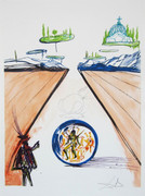 Fab! Intra-Uterine Paradesic Locomotion, Ltd Ed Lithograph, Salvador Dali