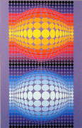 Fabulous Museum #4, Ltd Ed Silk-screen, Victor Vasarely - Large!
