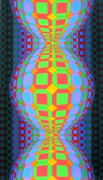 Stunning Kaaba II Ltd Ed Silk-screen, Victor Vasarely - Large!
