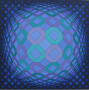 Great Responses A Vasarely: Okta-Pos, Ltd Ed Silk-screen, Victor Vasarely