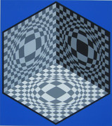 Splendid Cubic Relationship, Ltd Ed Silk-screen, Victor Vasarely