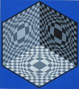 Splendid Cubic Relationship, Ltd Ed Silk-screen, Victor Vasarely