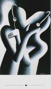 Fab! Dream Team, 1985 Exhibition Poster, Mark Kostabi
