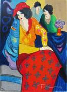 Fabulous Blue Mood, Ltd Ed Silk-screen, Itzhak Tarkay