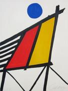 Splendid Blue Sun, Ltd Ed Lithograph, Alexander Calder